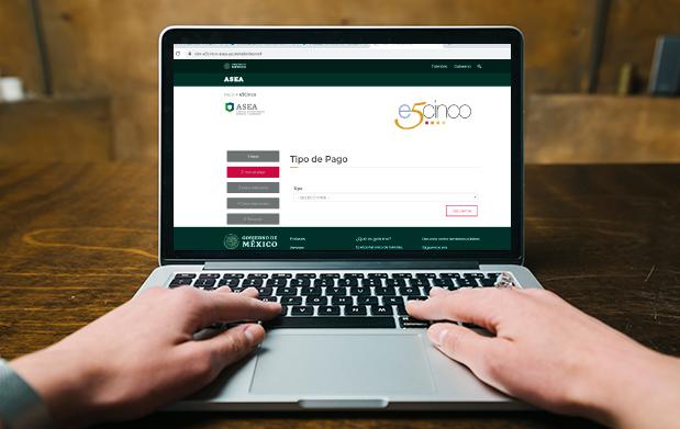 Imagen de una computadora en el portal e5cinco de la Agencia