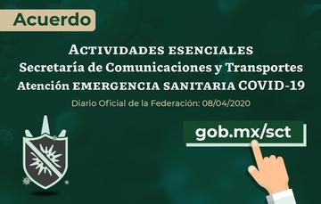 #AccionesSCT Atención Emergencia Sanitaria COVID-19