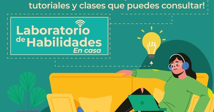 Banner para Laboratorio de Habilidades en Casa. ¿Qué quieres aprender hoy?