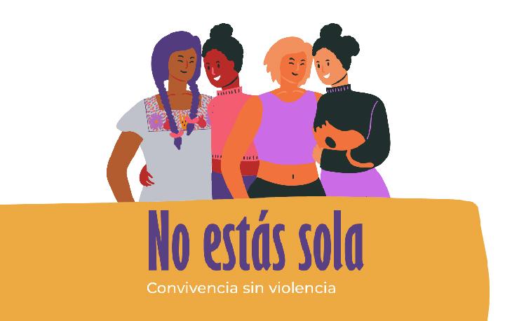 """Banner campaña """"No estás sola"""""""