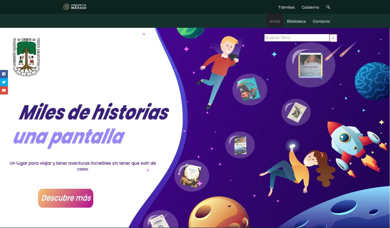 Pone SEP a disposición de niñas, niños y jóvenes la biblioteca digital Miles de Historias
