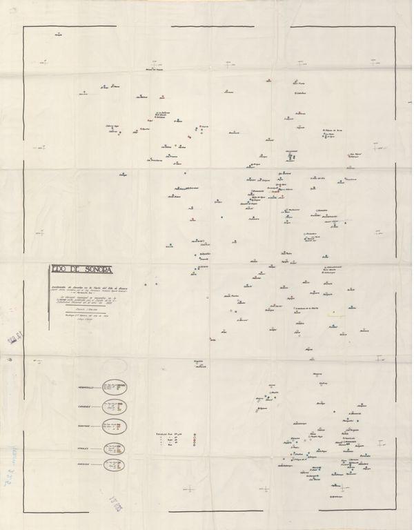 """Para recordar esta fecha, la Mapoteca presenta este mapa titulado """"Escuelas en Sonora"""", el cual muestra la distribución y ubicación de escuelas, publicado en 1939."""