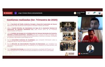 Sesión virtual de la Conuee sobre resultados, lecciones aprendidas y retroalimentación de las empresas que desarrollan proyectos de calentamiento solar de agua