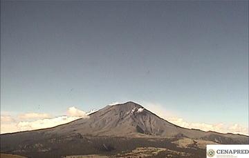 En las últimas 24 horas, mediante el sistema de monitoreo del volcán Popocatépetl se identificaron 199 exhalaciones acompañadas de gases volcánicos y en ocasiones de ligeras cantidades de ceniza.