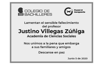 Esquela Justino Villegas Zúñiga