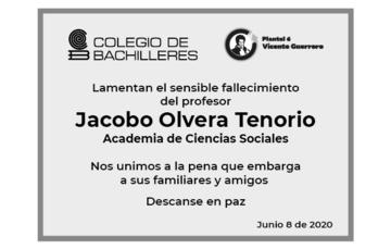 Lamentamos el sensible fallecimiento de Jacobo Olvera Tenorio