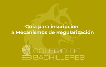 Guía para inscripción a mecanismos de regularización