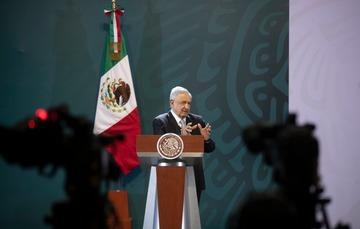 El presidente de México, Andrés Manuel López Obrador, durante la conferencia matutina de hoy desde la Ciudad de México.