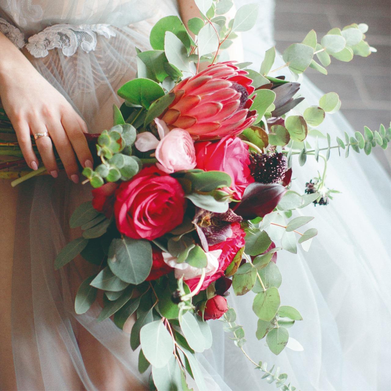 Las flores son parte de nuestras vidas, incluso en un día tan especial