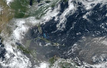 Imagen satelital de la nube de polvo