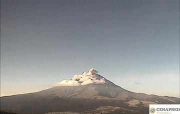 En las últimas 24 horas, mediante el sistema de monitoreo del volcán Popocatépetl se identificaron 37 exhalaciones acompañadas de gases volcánicos y en ocasiones de ligeras cantidades de ceniza