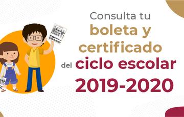 Consulta tu boleta y certificado