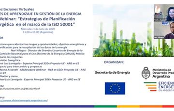 La Conuee participa en el 4.o webinar de capacitación dirigido a las Redes de Aprendizaje en Gestión de la Energía en la Argentina