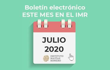 Este mes en el IMR - julio 2020