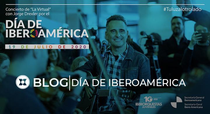 ¡Este domingo, durante la celebración del Primer #DíadeIberoamérica, nos uniremos a través de la música🎵! Disfruta de la presentación de Jorge Drexler y #LaVirtual de #IberorquestasJuveniles🎶.