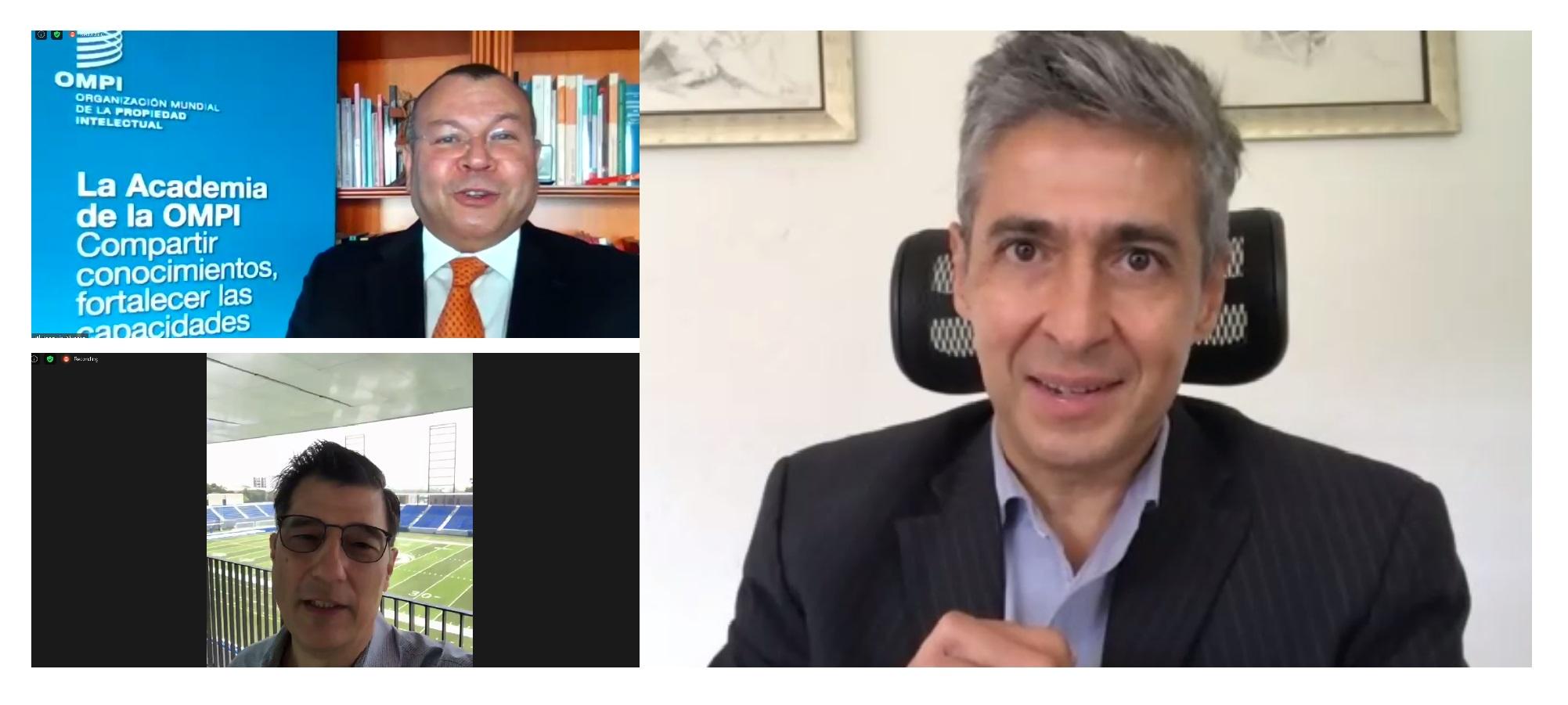 3 hombres en videollamada
