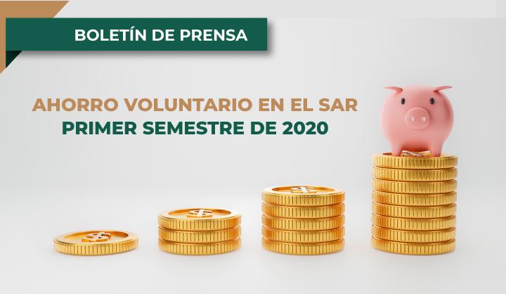 Ahorro Voluntario en el SAR durante el primer semestre de 2020