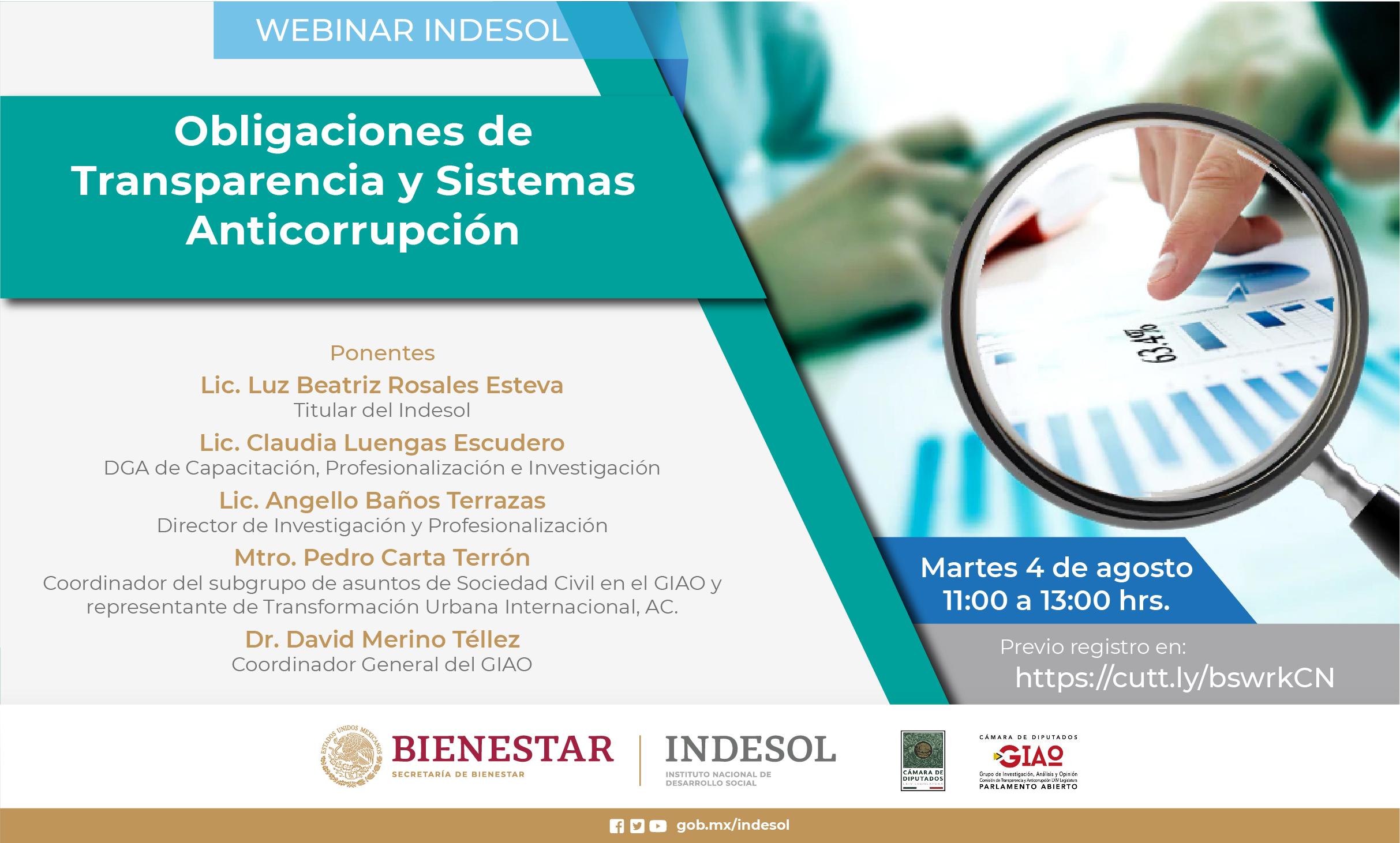 Webinar Indesol: Obligaciones de Transparencia y Sistemas Anticorrupción