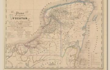 """Para conmemorar esta fecha, la Mapoteca presenta un mapa titulado: """"Península de Yucatán"""", elaborado en 1861."""
