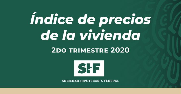Índice de Precios de la Vivienda 2do. Trimestre 2020