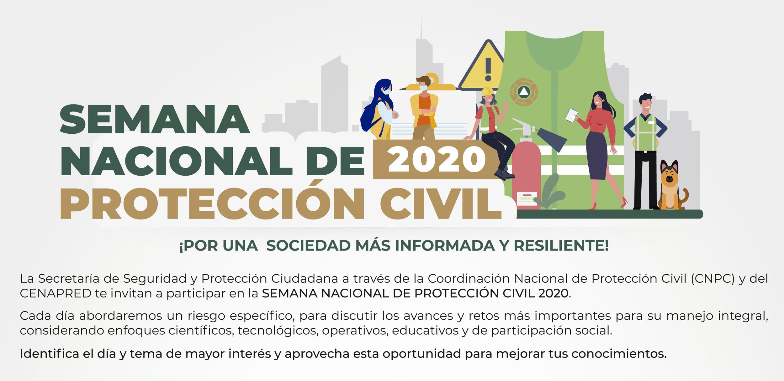 Semana Nacional de Protección Civil 2020