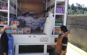 Visitan tiendas móviles DICONSA poblaciones vulnerables de Tlaxcala