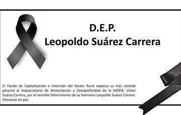 Leopoldo Suárez Carrera.  Descanse en paz.
