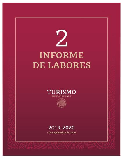 SEGUNDO INFORME DE LABORES DE LA SECRETARÍA DE TURISMO 2019 - 2020
