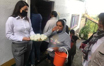 Operan Liconsa-Diconsa lechería con venta de canasta básica en comunidad de Zimpanio Norte