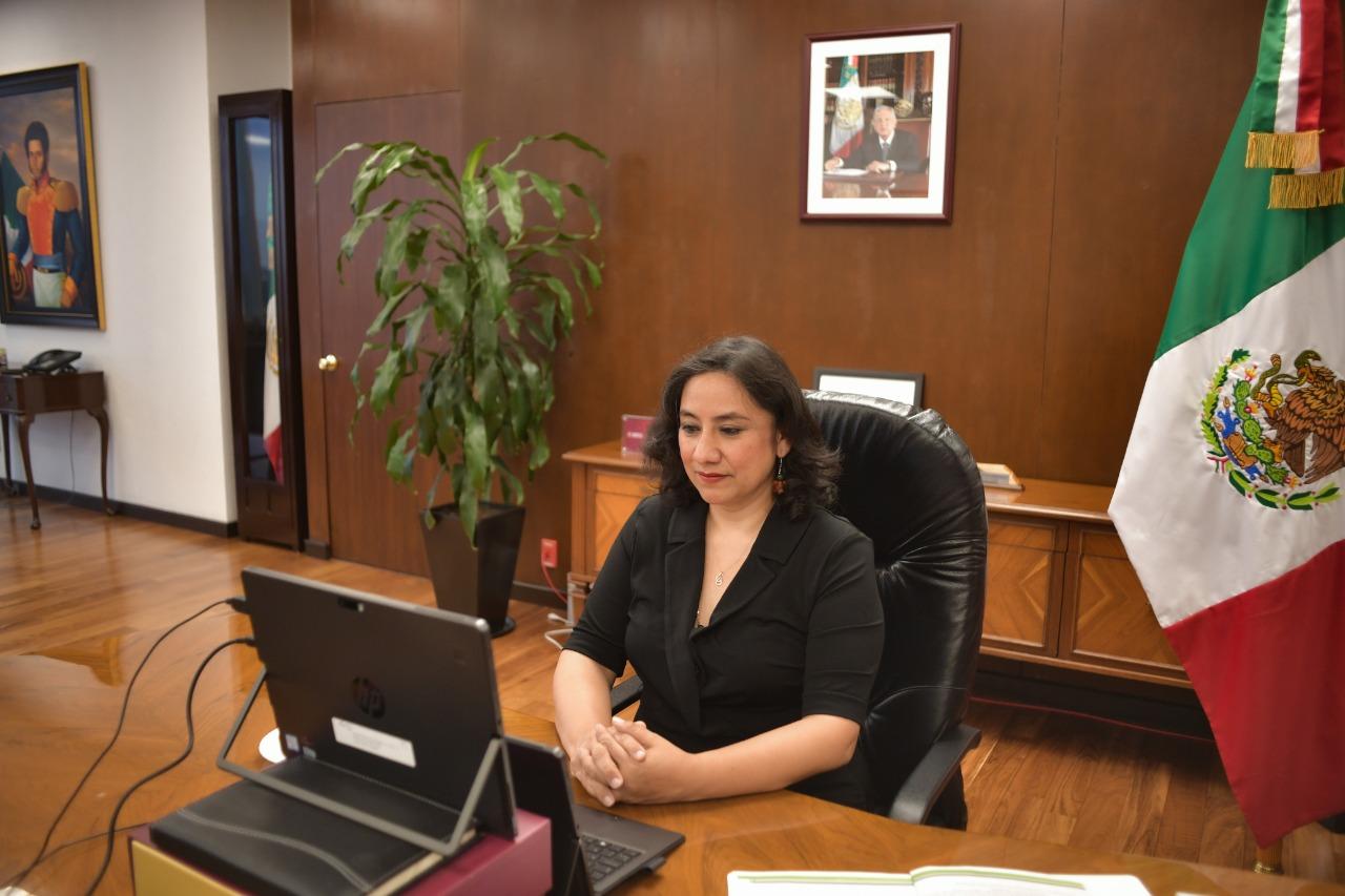 Secretaria Sandoval Ballesteros propone a diputados reformas a la Ley de Adquisiciones