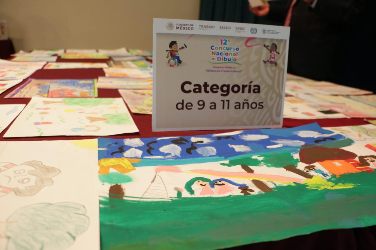 """Ya hay ganadores del concurso nacional de dibujo """"México sin trabajo infantil"""". Hoy deliberó el Jurado."""