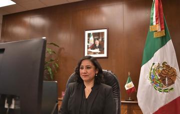 Secretaria Sandoval Ballesteros presenta Informe del Sistema Nacional de Fiscalización ante el SNA