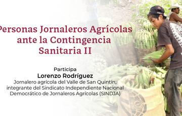 Mesa de Diálogo: Personas Jornaleras Agrícolas ante la Contingencia Sanitaria II