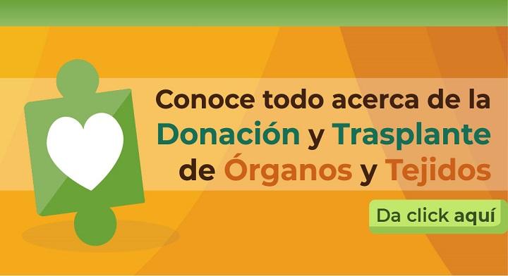 Si has pensado en la donación de órganos y tejidos puedes registrarte en http://www.cenatra.gob.mx/dv/index.php