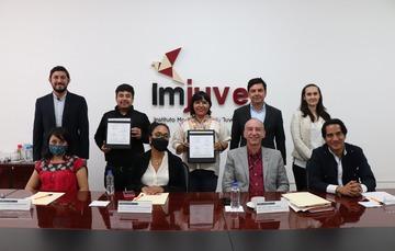 Firma de convenio Imjuve - Coordinación Nacional de Becas Benito Juárez