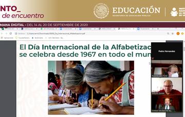PRESIDE SECRETARIO DE EDUCACIÓN CONMEMORACIÓN DEL DÍA INTERNACIONAL DE LA ALFABETIZACIÓN