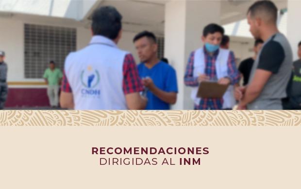 Recomendaciones dirigidas al INM