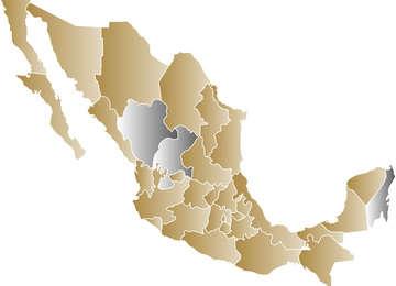 Mapa de las Comisiones Estatales