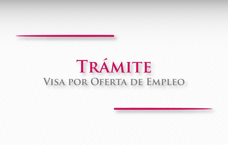Visa por oferta de empleo