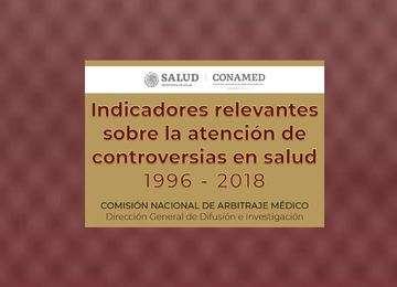 Leyenda de indicadores relevantes sobre la atención de controversias en salud 1996 - 2018.