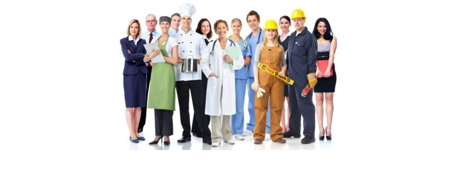 Personas que representan cada profesión, trabajo u oficio