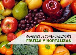 Márgenes de comercialización frutas y hortalizas mes de febrero