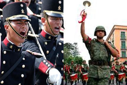 Himnos y marchas militares.