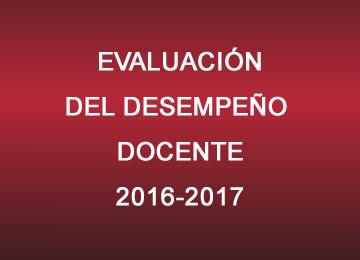 Evaluación del Desempeño Docente 2016-2017