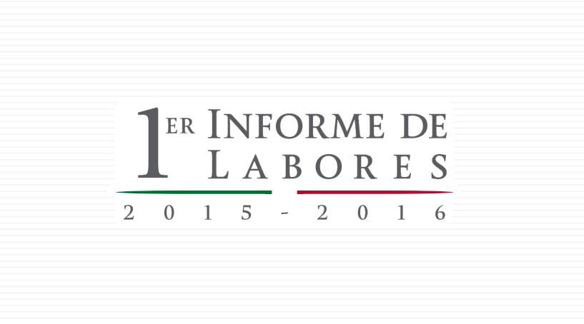 1er Informe de Labores 2015 - 2016