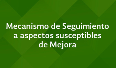 Mecanismo de Seguimiento a aspectos susceptibles de Mejora - Septiembre 2016