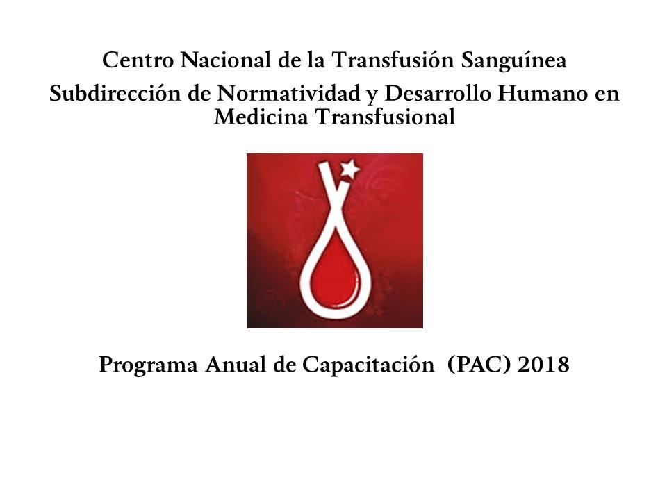 Programa Anual de Capacitación (PAC) 2018
