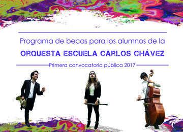 Programa de becas para los alumnos de la Orquesta Escuela Carlos Chávez.