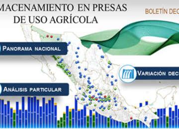 Reporte decenal sobre almacenamiento en presas de uso agrícola