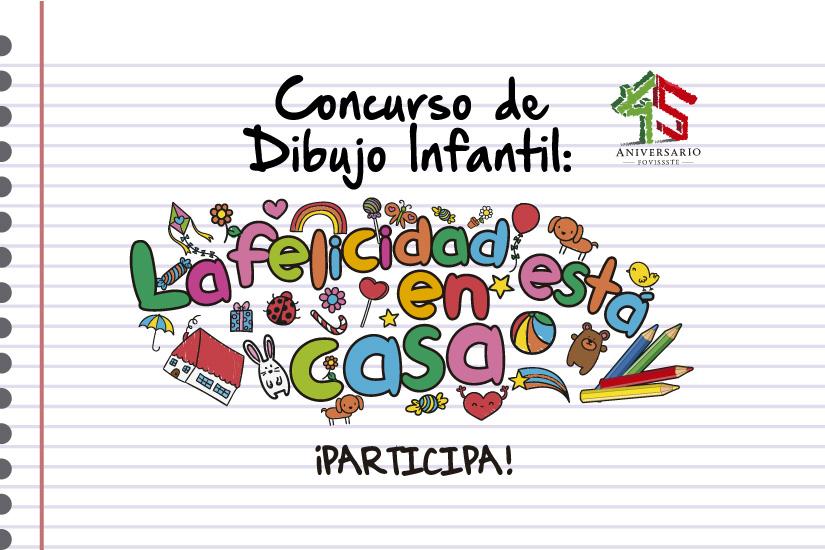 Concurso de dibujo infantil la felicidad est en casa for Dibujos pared infantil
